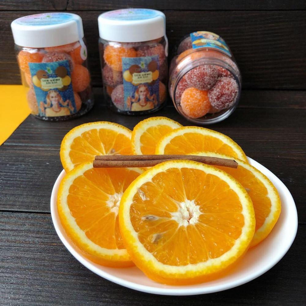 """Скраб-шарики для тела """"Апельсин и корица"""" - 1"""